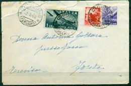 V8210 ITALIA 1948 REPUBBLICA Lettera Affrancata Con Democratica Posta Aerea 1 L. + 3 L. + 6 L., Da Chiuduno (Bergamo) - 6. 1946-.. Repubblica