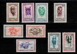 Cote D'Ivoire - YV 181 à 189 N** Complete - Masques - Côte D'Ivoire (1960-...)