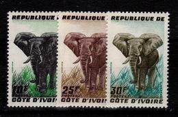 Cote D'Ivoire - YV 177 à 179 N** Complete - Elephants - Côte D'Ivoire (1960-...)