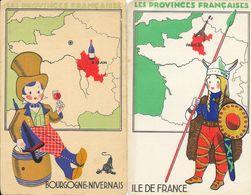 Publicité Produits Eclipse (cirage) - Les Provinces Française: Ile De France, Bourgogne - Lot De 2 Cartes Format CPA - Trade Cards