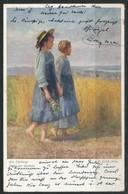 Ansichtskarte  -Wiener Kunst  Am Feldweg - Künstlerkarten