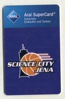 37753  Aral Super Card  -basketball - Science City Jena - Logo - Gift Cards