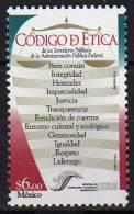 Mexique. Code Ethique De La Fonction Publique. 1 T-p Neuf ** (Scott # 2292). - Mexique