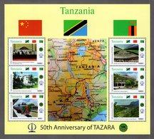 Tanzania - 2018 - 50th Anniversary Of Tazara Railway - Mint Souvenir Sheet - Tanzanie (1964-...)