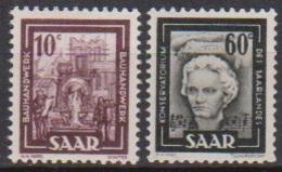 Saarland 1949 MiNr.272,273 ** Postfr.Bilder Aus Industrie,Handel,Landwirtschaft Und Kultur(8378)günstige Versandkosten - 1947-56 Gealieerde Bezetting