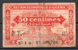 Algérie Billet De 50c 1944 2e T Série I3 - Algérie