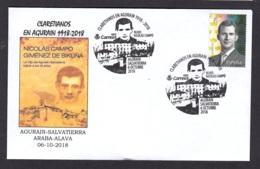 4.- ESPAÑA 2018 MATASELLO ESPECIAL ORDEN DE LOS CLARETIANOS EN AGURAIN SALVATIERRA ALAVA PAIS VASCO - 1931-Hoy: 2ª República - ... Juan Carlos I