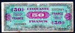 France Imp. Amér. Billet De 50 Francs 1945 Série 2 - 333 - Treasury