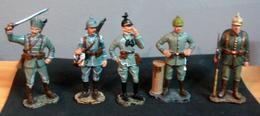 Soldats De Plomb, Armée Allemande 1914 , 5 Figurines - Soldats De Plomb