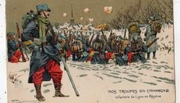 1915 NOS TROUPES EN CAMPAGNE INFANTERIE DE LIGNE EN RESERVE - Oorlog 1914-18