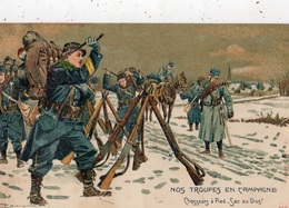 1915 NOS TROUPES EN CAMPAGNE CHASSEURS A PIED-SAC AU DOS ! - Oorlog 1914-18