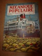 1951 MÉCANIQUE POPULAIRE:Faire Encadrement De Porte;Contre Maladie Des Pins;Construire Avec Des Agglos Pierre-ponce; Etc - Sciences & Technique