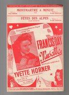 Partition Fêtes Des Alpes Valse Musette Et Montmartre à Minuit Valse Par Yvette Horner De 1951 - Opern
