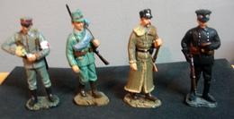 Soldats De Plomb, Armée Allemande 1915 , 4 Figurines - Soldats De Plomb