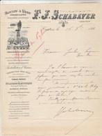 Lettre Illustrée 16/10/1893 SCHABAVER Moulin à Vent  Manège Noria CASTRES Tarn - 1800 – 1899