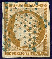 No 1, Obl étoile Bleue. - TB. - R - 1849-1850 Ceres