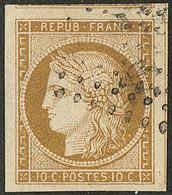 No 1, Trois Voisins, Nuance Foncée, Superbe. - R - 1849-1850 Ceres