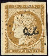 No 1, Obl Pc 770 De Château La Valliere, Jolie Pièce. - TB - 1849-1850 Ceres