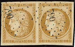 No 1, Paire Obl Pc 790, Jolie Pièce. - TB - 1849-1850 Ceres