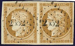 No 1, Paire Obl Pc 2652. - TB - 1849-1850 Ceres