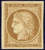 * No 1a, Bistre-brun, Jolie Pièce. - TB. - R - 1849-1850 Ceres