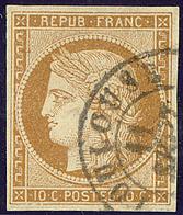 No 1a, Obl Cad Toulouse, Sur Support. - TB - 1849-1850 Ceres