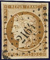 No 1a, Nuance Très Foncée, Obl Pc 2164. - TB - 1849-1850 Ceres