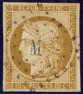 """Utilisation Tardive. No 1a, Obl Losange """"M"""" Romaine, Petites Marges Mais TB Et Utilisation R - 1849-1850 Ceres"""