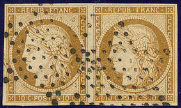 No 1a, Paire Obl étoile. - TB - 1849-1850 Ceres