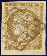 No 1b, Bdf, Obl Grille. - TB - 1849-1850 Ceres