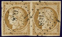 No 1b, Paire Obl Pc. - TB - 1849-1850 Ceres