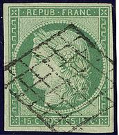 No 2, Obl Grille, Jolie Pièce. - TB. - R - 1849-1850 Ceres