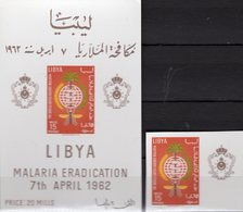 UNO Malariamücke 1962 Libya 118+Block 2 ** 10€ Anti-Malaria WHO Hb Nature Ss Fauna Blocs Sheets Medical M/s Bf WWF - Libye