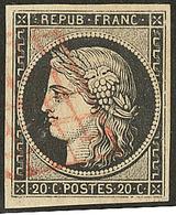 Oblitérations Sur 20c Noir. Grille Rouge. No 3. - TB. - R - 1849-1850 Ceres