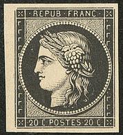 (*) Mise En Train. 20c Noir, Petit Bdf. - TB - 1849-1850 Ceres