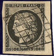 No 3, Bdf, Obl Grille, Ex Choisi. - TB - 1849-1850 Ceres