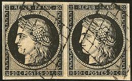 No 3, Paire Obl Grille. - TB - 1849-1850 Ceres