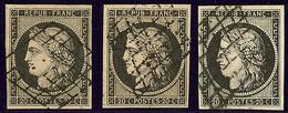 No 3, Obl Grille, Nuances. - TB - 1849-1850 Ceres