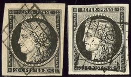 Nos 3, 3a, Ex Choisis. - TB - 1849-1850 Ceres