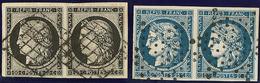 Nos 3 Paire Obl Grille, 4 Paire Obl étoile. - TB - 1849-1850 Ceres