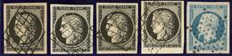 Nos 3 (4), 10, Ex Choisis. - TB - 1849-1850 Ceres