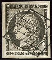 No 3c, Gris-noir, Un Voisin, Superbe - 1849-1850 Ceres