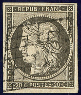 No 3i, Gris, Obl Grille, Belle Nuance. - TB - 1849-1850 Ceres