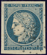 No 4, Bleu, Obl Pc 3296, Ex Choisi. - TB - 1849-1850 Ceres