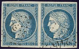 No 4, Paire Obl Pc 2445. - TB - 1849-1850 Ceres
