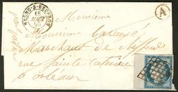 Lettre No 4, Bdf, Obl Grille Sur Lettre De Meung Sur Beuvron Août 50 Pour Orléans. - TB - 1849-1850 Ceres