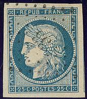 No 4f, Bleu Clair, Deux Voisins, Obl Pc 33, Ex Choisi. - TB - 1849-1850 Ceres