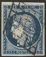 No 4h, Bleu Noir, Obl Grille. - TB - 1849-1850 Ceres