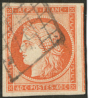 No 5, Orange, Un Voisin, Belle Nuance, Jolie Pièce. - TB. - R - 1849-1850 Ceres