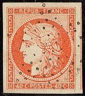 No 5, Un Voisin, Obl étoile, Superbe - 1849-1850 Ceres